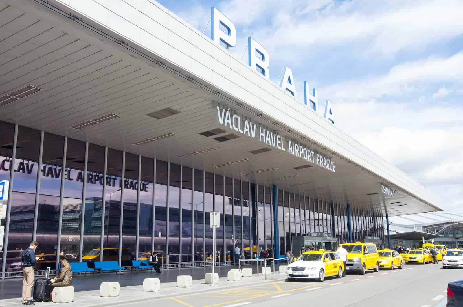 Taxi Rank outside the Prague Airport